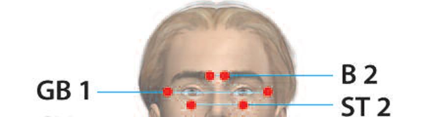 Μπορούμε να προλαβαίνουμε και να βελτιώνουμε προβλήματα στα μάτια όπως μυωπία,πίεση, καταράκτη, γλάυκωμα, την ωχρά κηλίδα, απελευθερώνοντας την ροή της ενέργειας, ξεμπλοκάροντας τους μεσημβρινούς που περικλείουν τα μάτια μας. 1